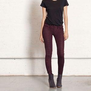 RAG & BONE Skinny Jeans Wine Purple {S46}